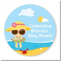 Beach Baby Girl - Personalized Baby Shower Table Confetti