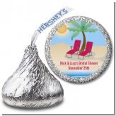 Beach Chairs - Hershey Kiss Bridal Shower Sticker Labels
