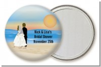 Beach Couple - Personalized Bridal Shower Pocket Mirror Favors