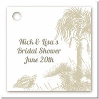 Beach Scene - Personalized Bridal Shower Card Stock Favor Tags