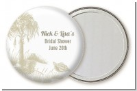 Beach Scene - Personalized Bridal Shower Pocket Mirror Favors