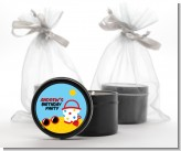 Beach Toys - Birthday Party Black Candle Tin Favors