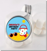 Beach Toys - Personalized Birthday Party Candy Jar