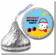 Beach Toys - Hershey Kiss Birthday Party Sticker Labels thumbnail