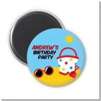 Beach Toys - Personalized Birthday Party Magnet Favors