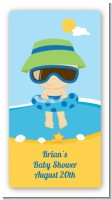 Beach Baby Boy - Custom Rectangle Baby Shower Sticker/Labels