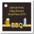 Beer and Baby Talk - Personalized Baby Shower Card Stock Favor Tags thumbnail