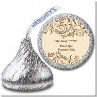 Beige & Brown - Hershey Kiss Bridal Shower Sticker Labels