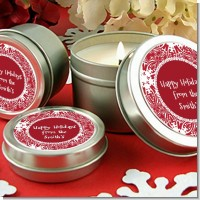 Big Red Snowflake - Christmas Candle Favors