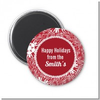 Big Red Snowflake - Personalized Christmas Magnet Favors