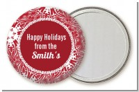 Big Red Snowflake - Personalized Christmas Pocket Mirror Favors