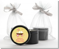 Bird's Nest - Baby Shower Black Candle Tin Favors