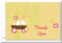 Bird's Nest - Baby Shower Thank You Cards