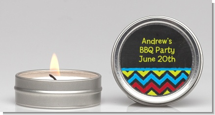 Birthday Boy Chalk Inspired - Birthday Party Candle Favors