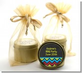 Birthday Boy Chalk Inspired - Birthday Party Gold Tin Candle Favors