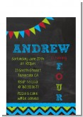 Birthday Boy Chalk Inspired - Birthday Party Petite Invitations