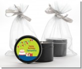 Birthday Cake - Birthday Party Black Candle Tin Favors