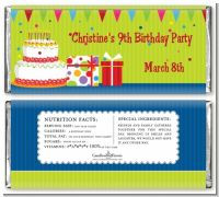 Birthday Cake - Personalized Birthday Party Candy Bar Wrappers