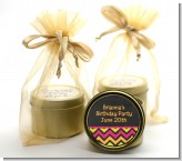 Birthday Girl Chalk Inspired - Birthday Party Gold Tin Candle Favors