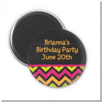 Birthday Girl Chalk Inspired - Personalized Birthday Party Magnet Favors