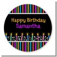 Birthday Wishes - Round Personalized Birthday Party Sticker Labels thumbnail