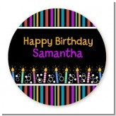 Birthday Wishes - Round Personalized Birthday Party Sticker Labels