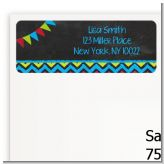 Birthday Boy Chalk Inspired - Birthday Party Return Address Labels