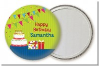 Birthday Cake - Personalized Birthday Party Pocket Mirror Favors