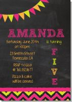 Birthday Girl Chalk Inspired - Birthday Party Invitations