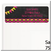 Birthday Girl Chalk Inspired - Birthday Party Return Address Labels