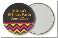Birthday Girl Chalk Inspired - Personalized Birthday Party Pocket Mirror Favors