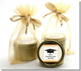 Black & Gold - Graduation Party Gold Tin Candle Favors