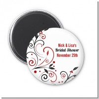Black and Red Vine - Personalized Bridal Shower Magnet Favors