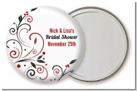 Black and Red Vine - Personalized Bridal Shower Pocket Mirror Favors