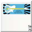 Rock Star Guitar Blue - Birthday Party Return Address Labels thumbnail