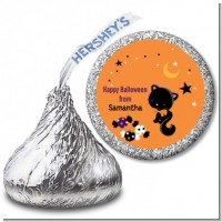 Black Cat - Hershey Kiss Halloween Sticker Labels