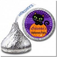 Black Cat Pumpkin - Hershey Kiss Halloween Sticker Labels