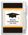 Black & Gold - Graduation Party Personalized Notebook Favor thumbnail