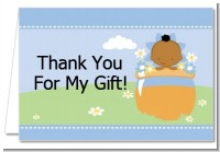 Blooming Baby Boy African American - Baby Shower Thank You Cards