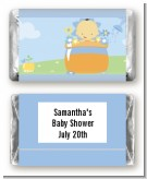 Blooming Baby Boy Asian - Personalized Baby Shower Mini Candy Bar Wrappers