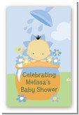 Blooming Baby Boy Asian - Custom Large Rectangle Baby Shower Sticker/Labels