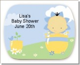 Blooming Baby Boy Asian - Personalized Baby Shower Rounded Corner Stickers