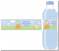 Blooming Baby Boy Asian - Personalized Baby Shower Water Bottle Labels
