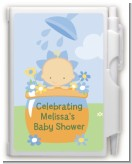 Blooming Baby Boy Caucasian - Baby Shower Personalized Notebook Favor