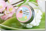 Blooming Baby Girl African American - Personalized Baby Shower Candy Jar
