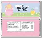 Blooming Baby Girl Asian - Personalized Baby Shower Candy Bar Wrappers