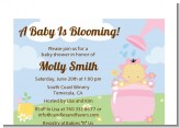 Blooming Baby Girl Asian - Baby Shower Petite Invitations