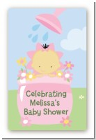 Blooming Baby Girl Asian - Custom Large Rectangle Baby Shower Sticker/Labels