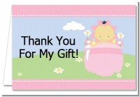 Blooming Baby Girl Asian - Baby Shower Thank You Cards