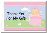Blooming Baby Girl Caucasian - Baby Shower Thank You Cards